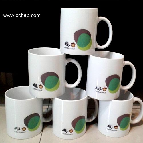 نمونه لیوان شرکت کافه بازار